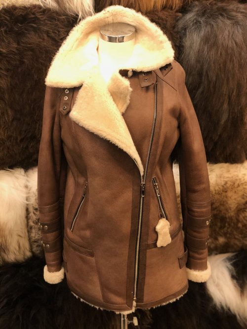 Lynn - 3/4 Length Ladies Sheepskin Flying Jacket