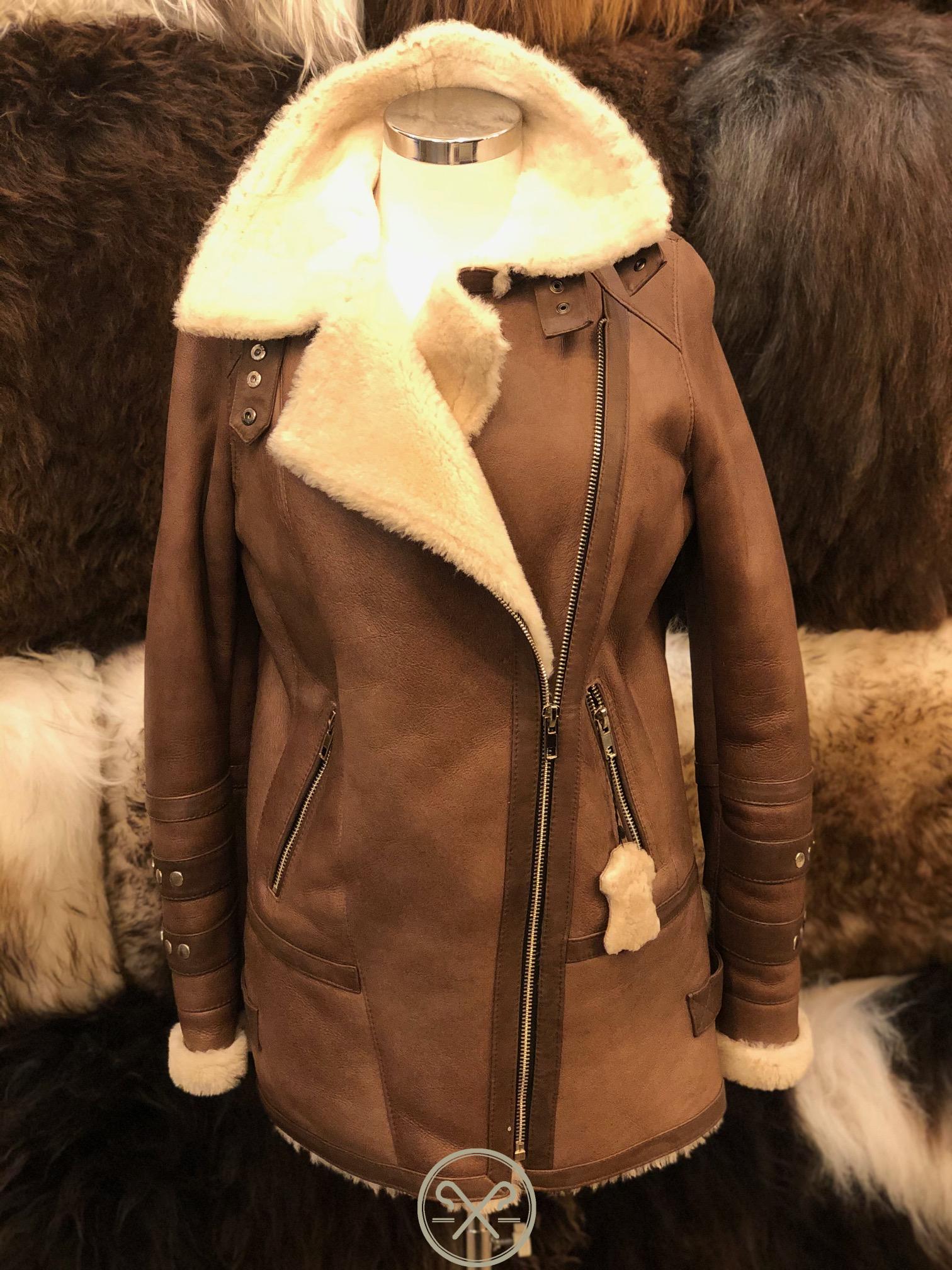 Lynn - 3/4 Length Ladies Sheepskin Flying Jacket