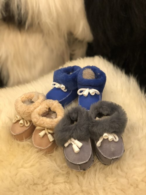 Real Sheepskin babies booties