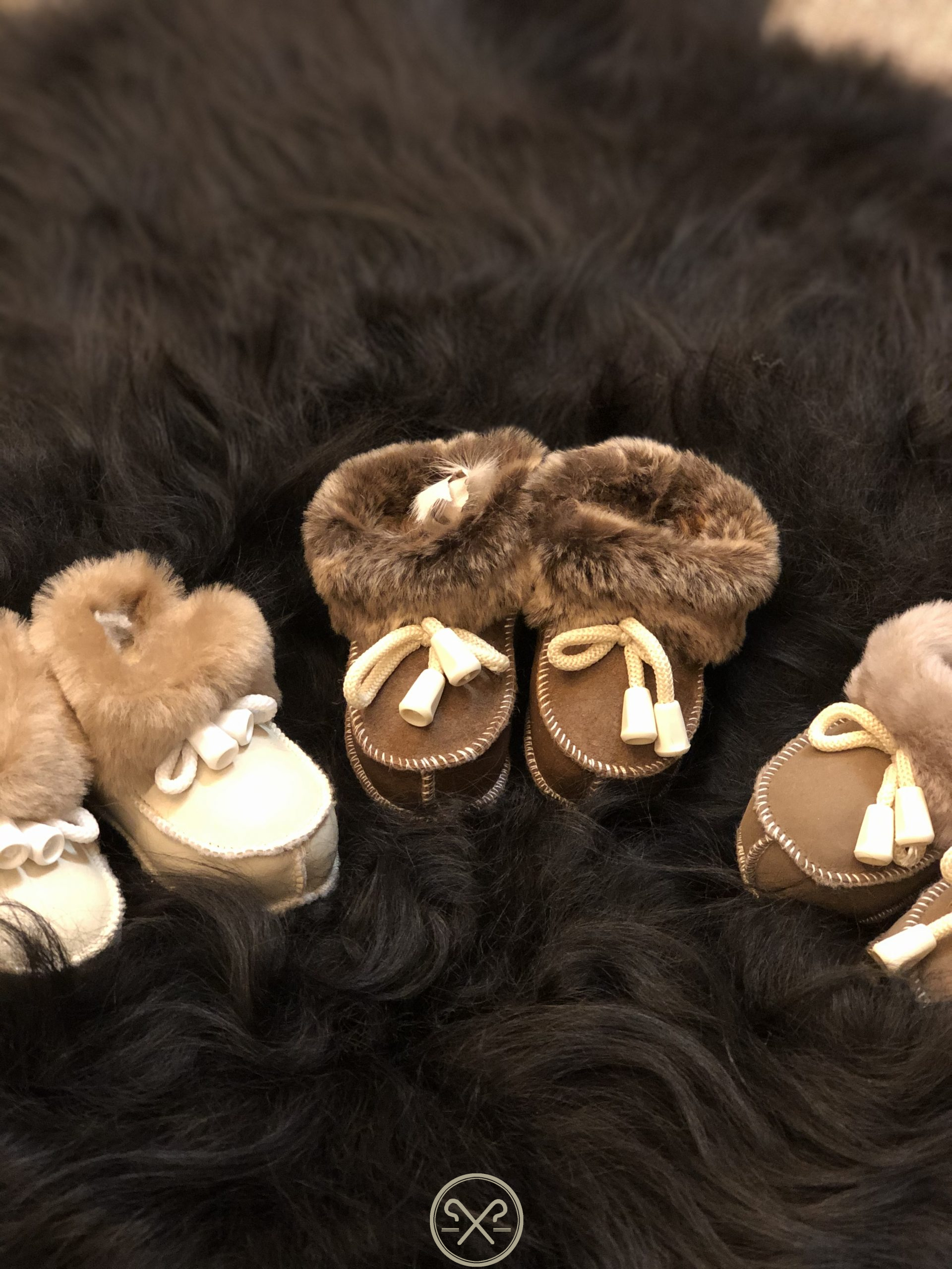 Real Sheepskin babies booties