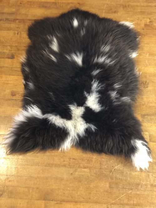 Black Brown and White Natural Jacob Sheepskin Rug