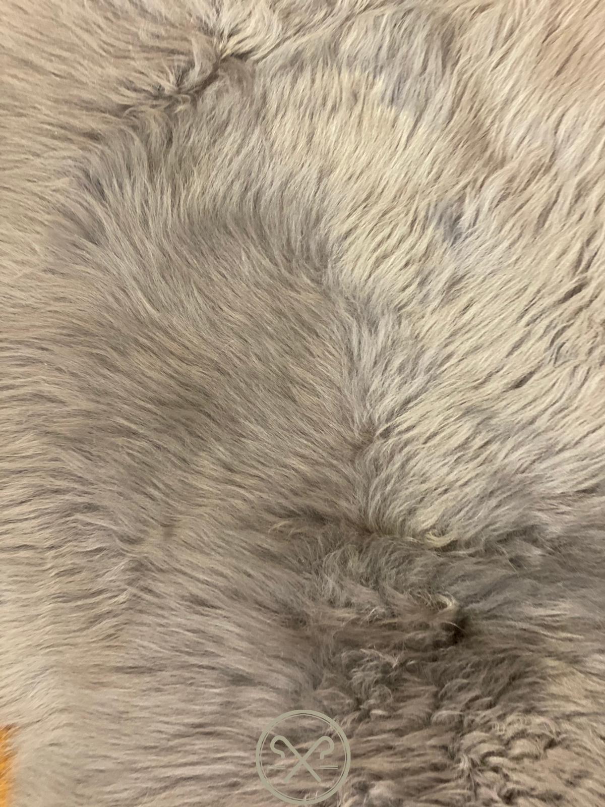 organic Grey Sheepskin Rug