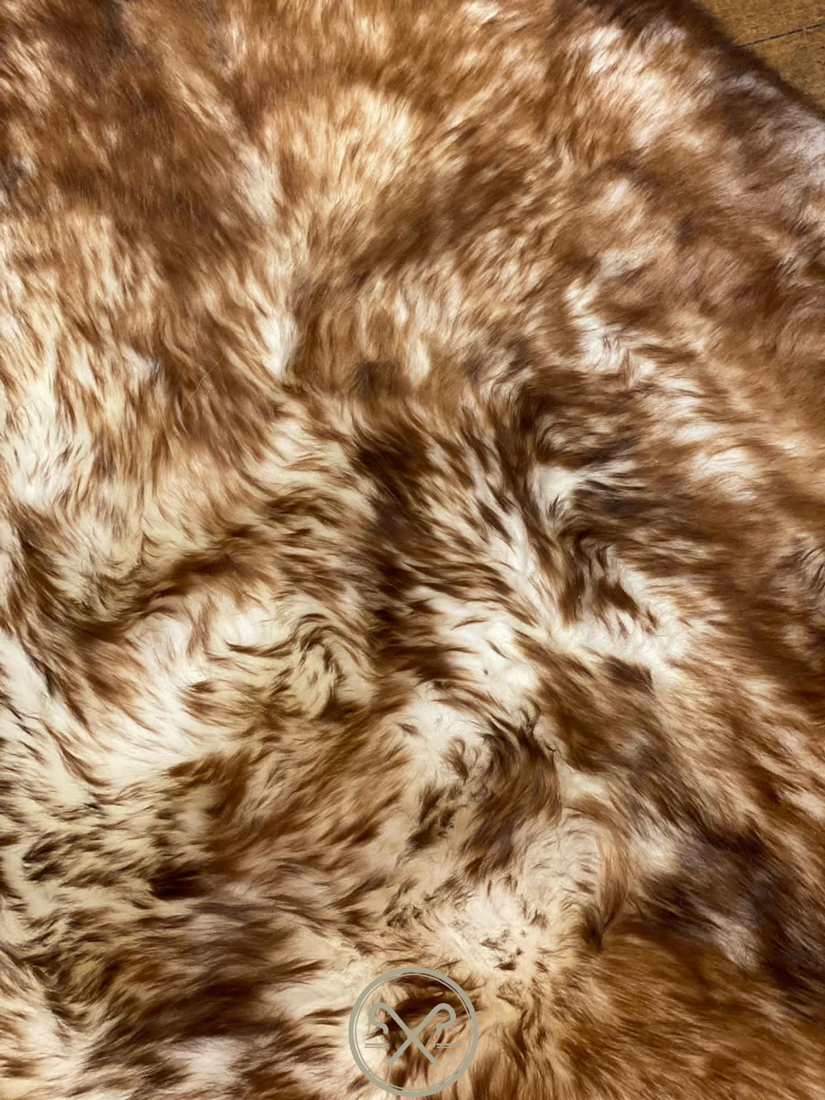 Brown Tipped Natural Icelandic Sheepskin