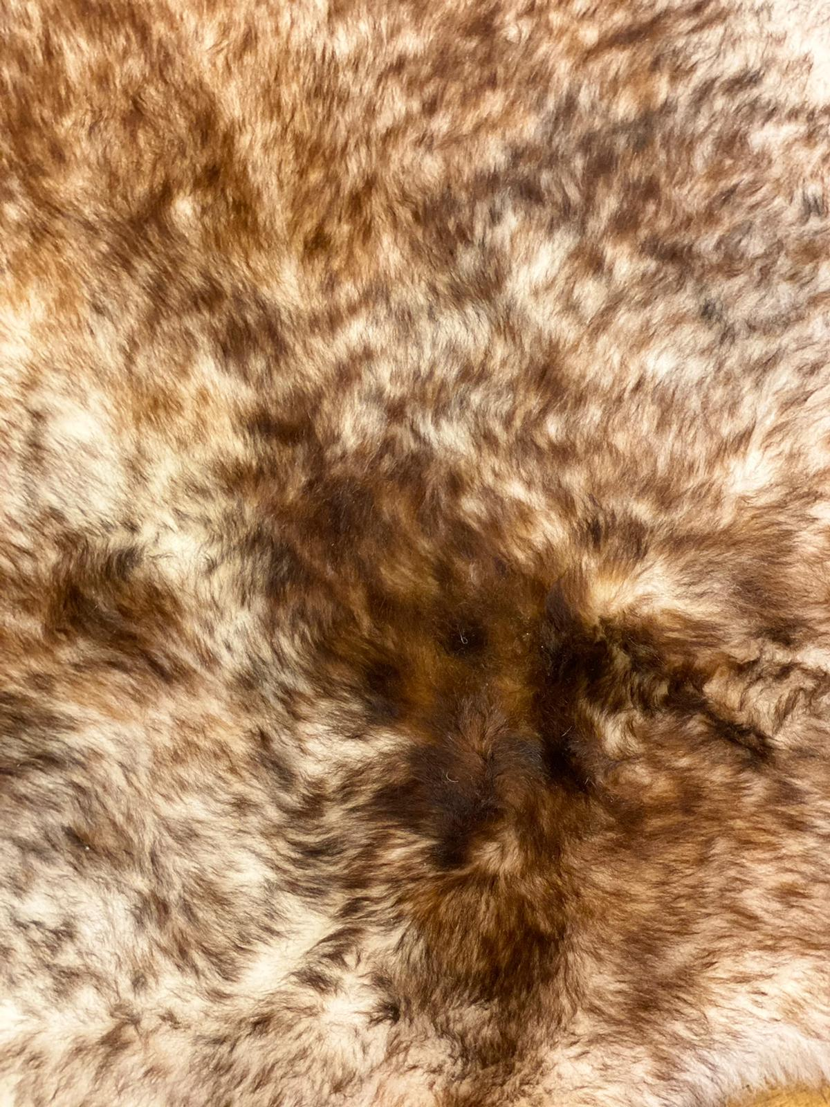 Brown Tipped Natural Icelandic Sheepskin Rug